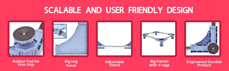 Aviksha Enterprise Premium Heavy Duty Adjustable, Below 200 Liter Refrigerator/Fridge Stand SPN-JGS