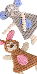 2 pack small dogs toys no stuffing