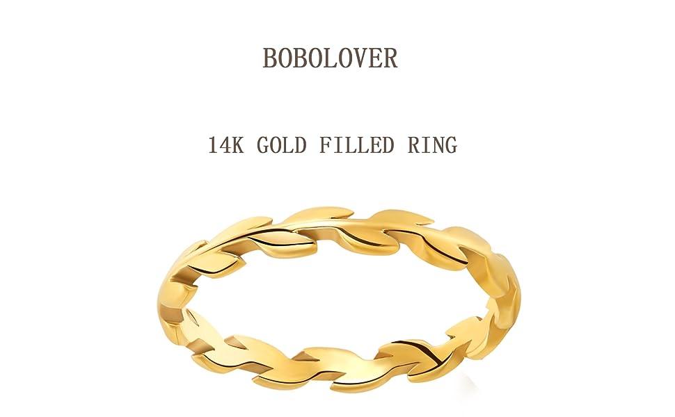 Vine 14K Filled Gold Ring