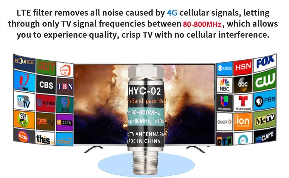 LTE Filter for TV Antenna