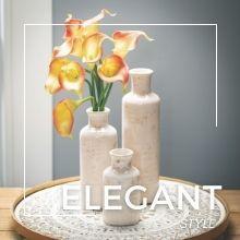 white ceramic vase set