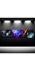 cosmic wall decor outer space party decorations galaxy planets picture for walls art work