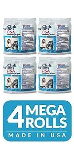 Club Wipes usa mega refill roll