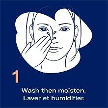 Biore pore facial and nose strip easy use application step 1
