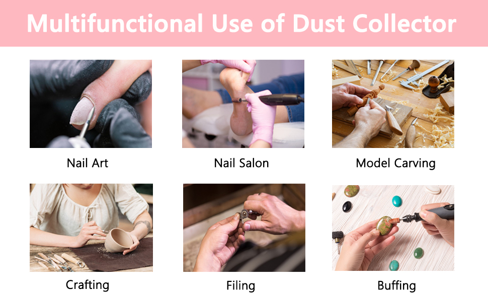 Electric Nail dust collector for Manicure