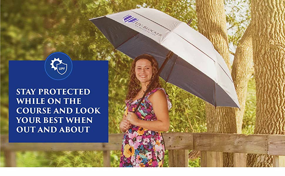 Stay protected while on the course and look your best when out and about