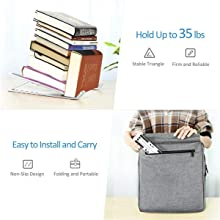 It is compact enough to put on your backpack or handbag.