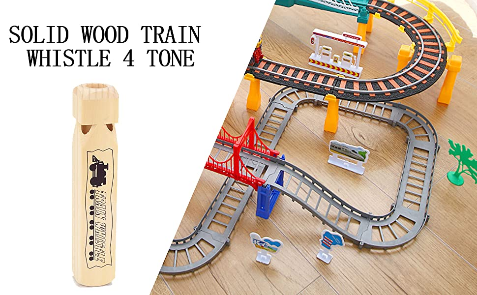 Solid Wood Train Whistle 4 Tone