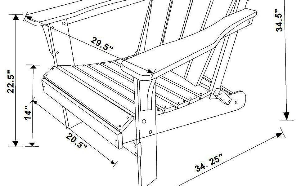 Adirondack Chair Dimension