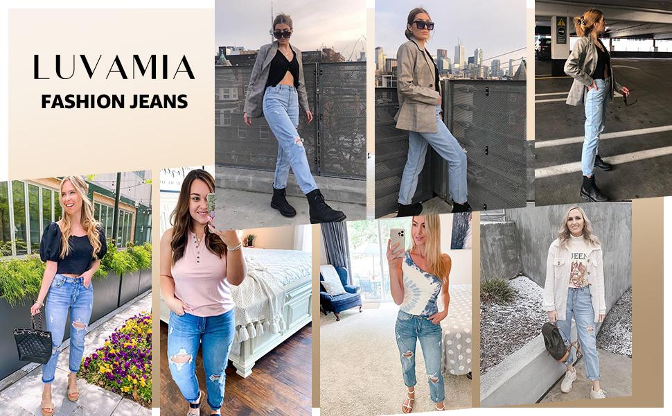 women high waist jeans