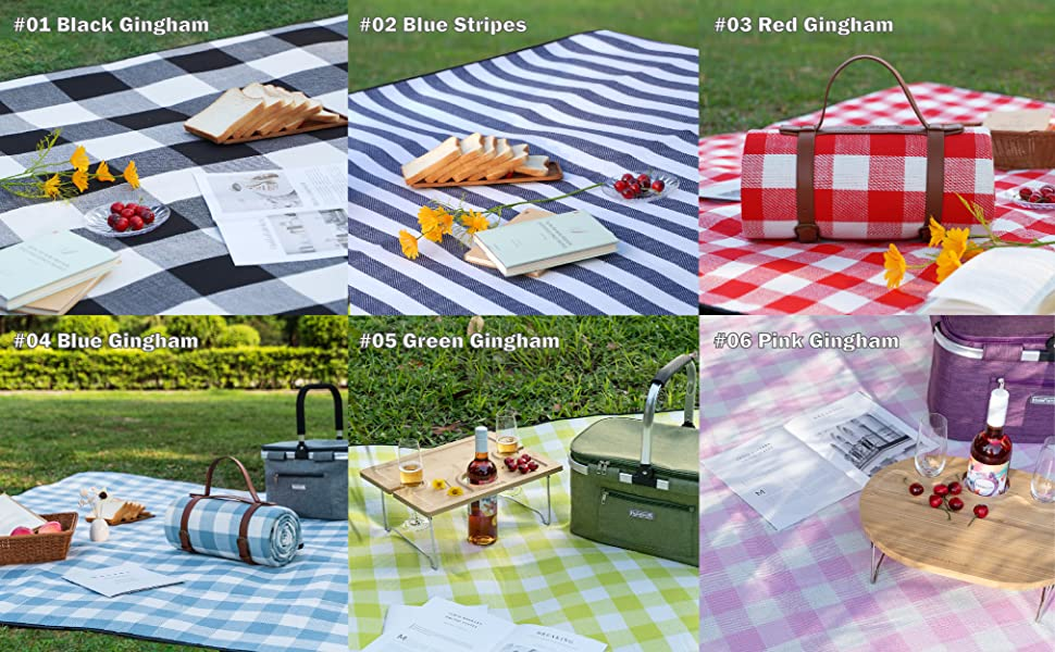 picnic blanket 6 colors to choose from