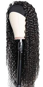 kinky curly headband wig