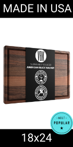 18x24 extra large walnut wood cutting board