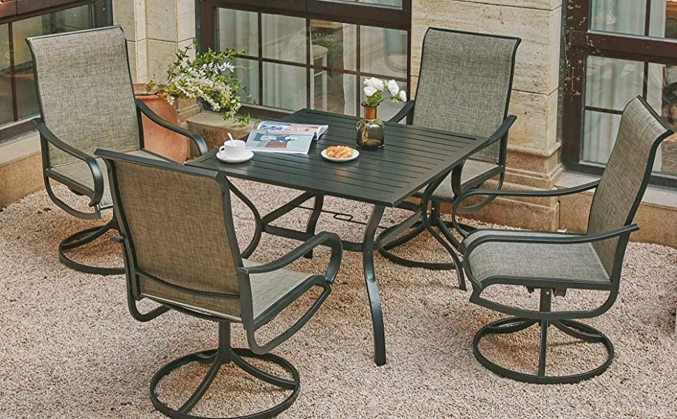patio sling chair set