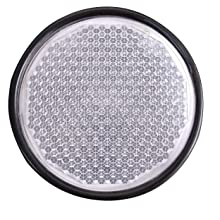 Reflex Reflector White with Black Outer