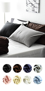 日本製80サテン 最高級超長綿使用 シルクのような滑らかさ 枕カバー ピローケース ノーブル