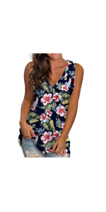 Summer Casual Sleeveless Loose Fit Tops