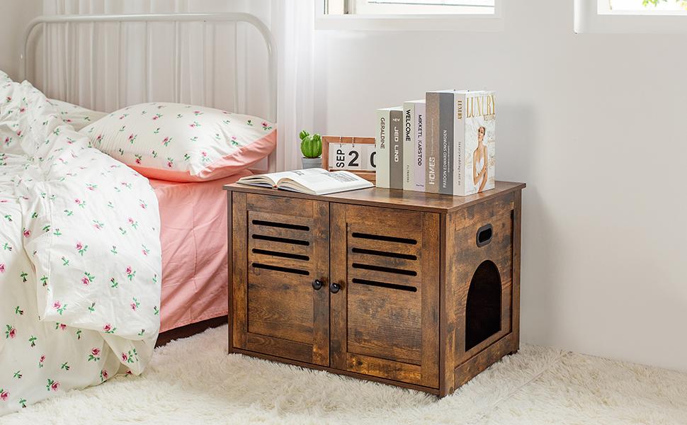 enclosed cat litter box furniture nightstand