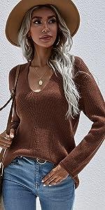 womenamp;#39;s Casual V-Neck Sweater