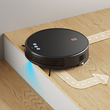 The robotic vacuum can detect your stairs to avoid falling down