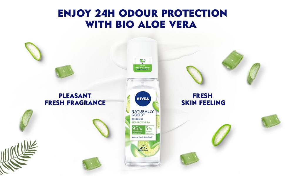 NIVEA,Women, Deodorant,Fresh,Aloe Vera,Natural,Fragrance