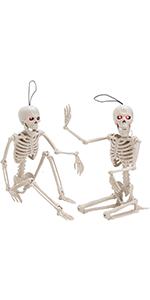 2 piezas de decoración de esqueleto de 40,6 cm