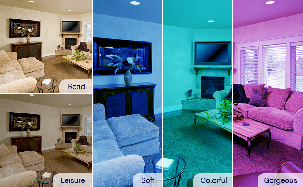 Pre-set scenarios help you change the lighting faster, these scenarios are editable as well