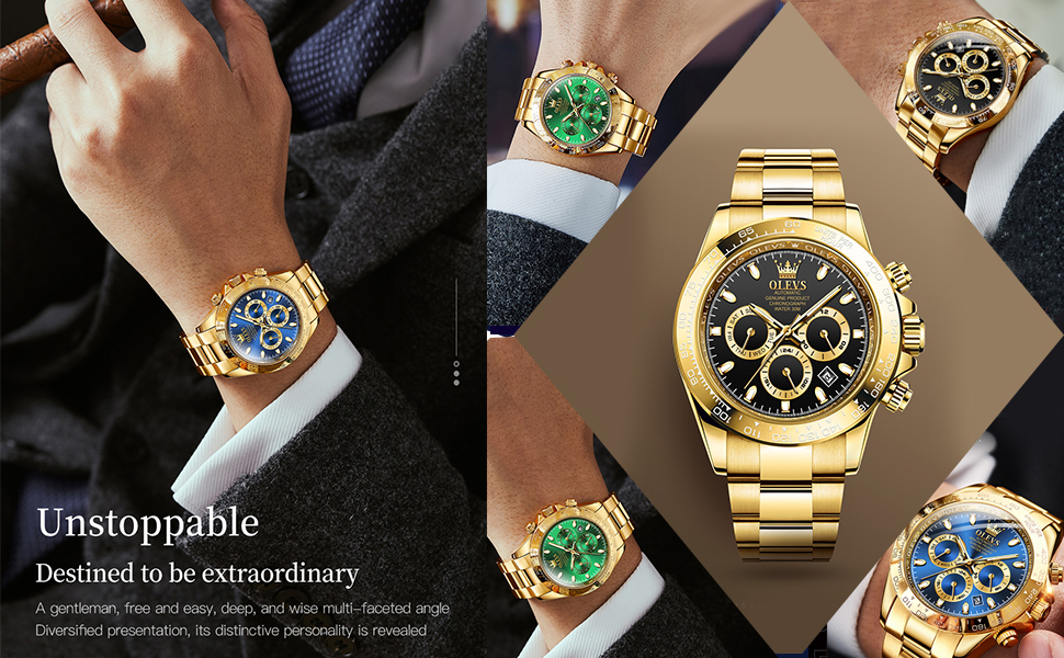 Fine Steel And Gold Stainless Steel Band watches for men