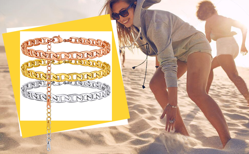 women anklet gold summer jewelry