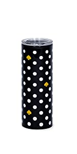 kate spade new york, polka dot, thermal mug