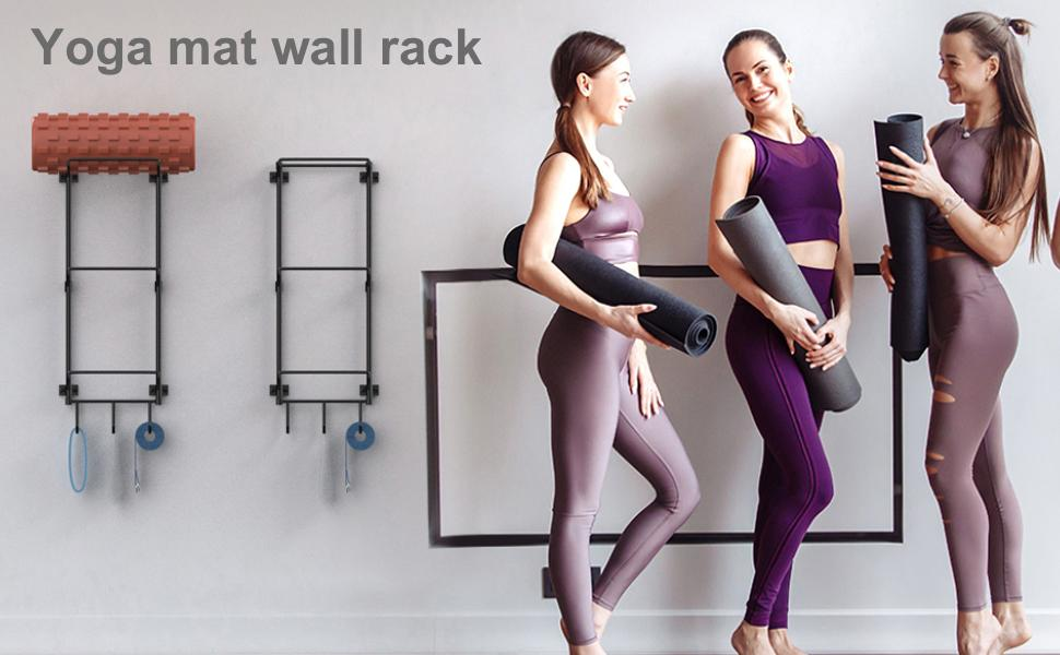 yoga mat rack
