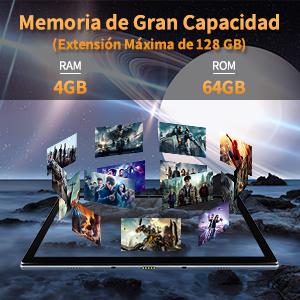 Tablet 10.1 Pulgadas OSCAL Pad8 Android 11 Tableta 64GB 4GB Octa-Core Tablets Ultrar-Rápido Grandes