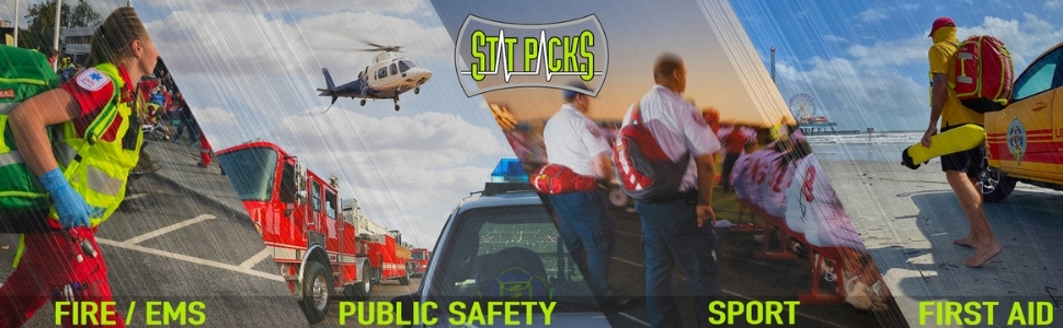 StatPacks Fast Packs for Medics Premium EMS Bags for Paramedics Firefighters Healthcare
