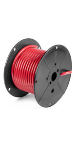 bulk battery cable reel 6 4 2 00 1/0 00 2/0 0000 4/0 100% copper wire Made in USA