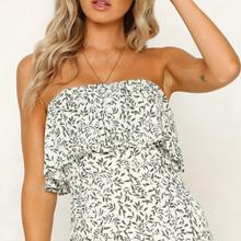 long floral dress for women maxi strapless summer dress