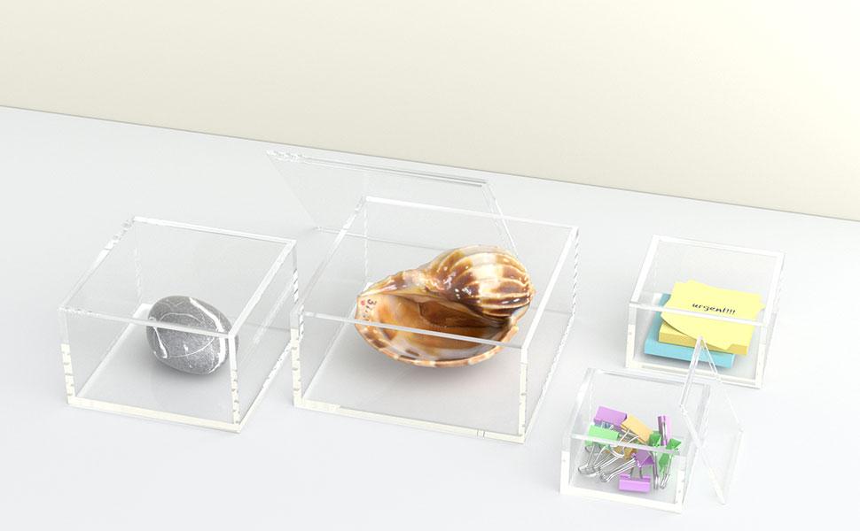 small acrylic box