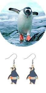 penguin earrings penguin lover jewelry