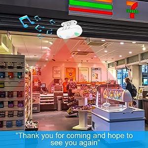 visitor chime door ring for business store door entry chime front door sensor store door