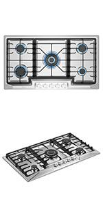 36amp;amp;amp;amp;amp;amp;amp;amp;amp;amp;#34; gas cooktop with 5 burners