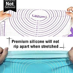 Notre silicone de qualité supérieure ne se déchire pas lorsqu'il est étiré.