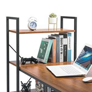 4 Tier Shelves Computer Desk