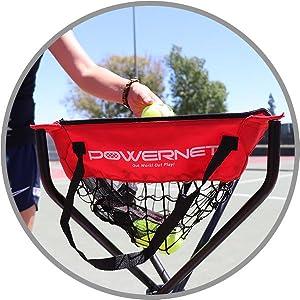 Powernet wheeled tennis cart
