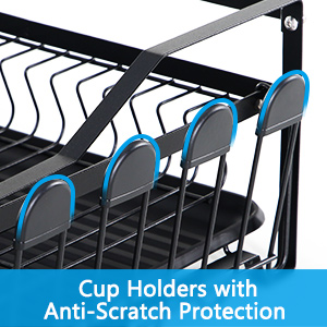 Dish Drying Rack, Forever Rack Dish Rack and Drainboard Set Dish Dryer Rack 2 Tier,