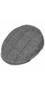 Lipodo checked design flat cap from above view