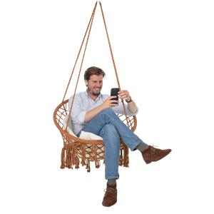 brown hanging chair