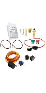 Dual Electric Cooling Fan Wiring Install Kit
