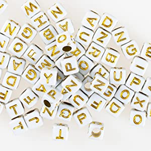 letters beads