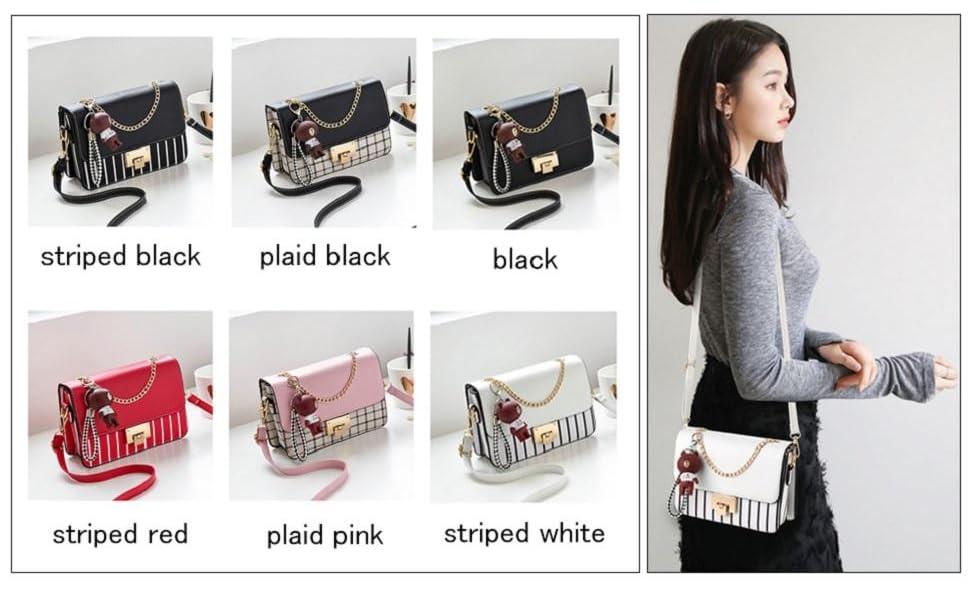 Umhängetasche für Damen Leder Kleine Geldbörsen Handtaschen Mode Mit Kettenriemen