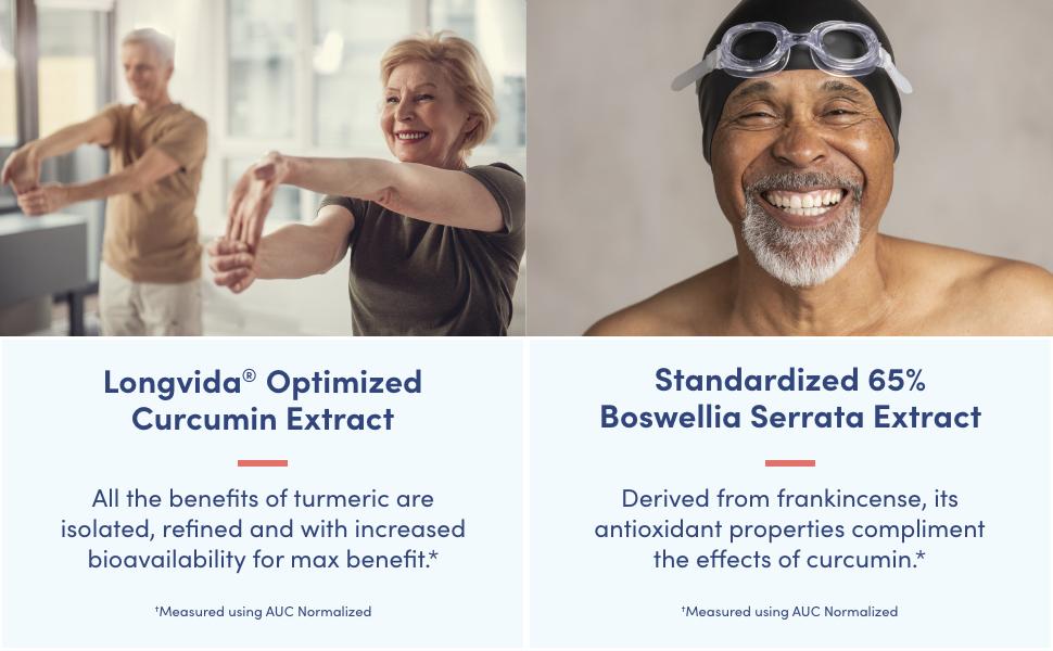 longvida optimized curcumin extract standardized 65% boswellia serrata extract