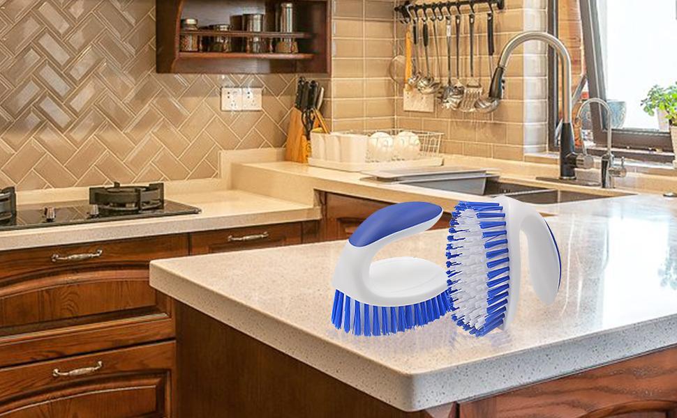 Quality & durable moderate stiffness bristles in kitchenware tile patios versatile scrubber